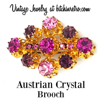 Austrian Crystal Brooch at bitchinretro.com