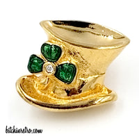 St Patrick's Day Vintage Jewelry Collection With Avon Leprechaun's Hat