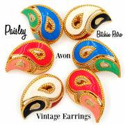 Avon Paisley Vintage Earrings at bitchinretro.com