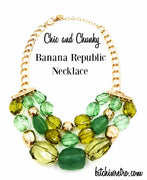 Banana Republic Necklace Faceted Lucite Beads With Rhinestone Accents Designer