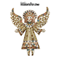 Bob Mackie Vintage Angel Brooch at bitchinretro.com