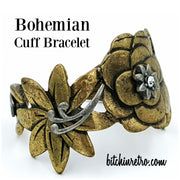Bohemian Brass Cuff Bracelet at bitchinretro.com