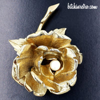 Vintage Boucher June Flower of the Month Brooch at bitchinretro.com