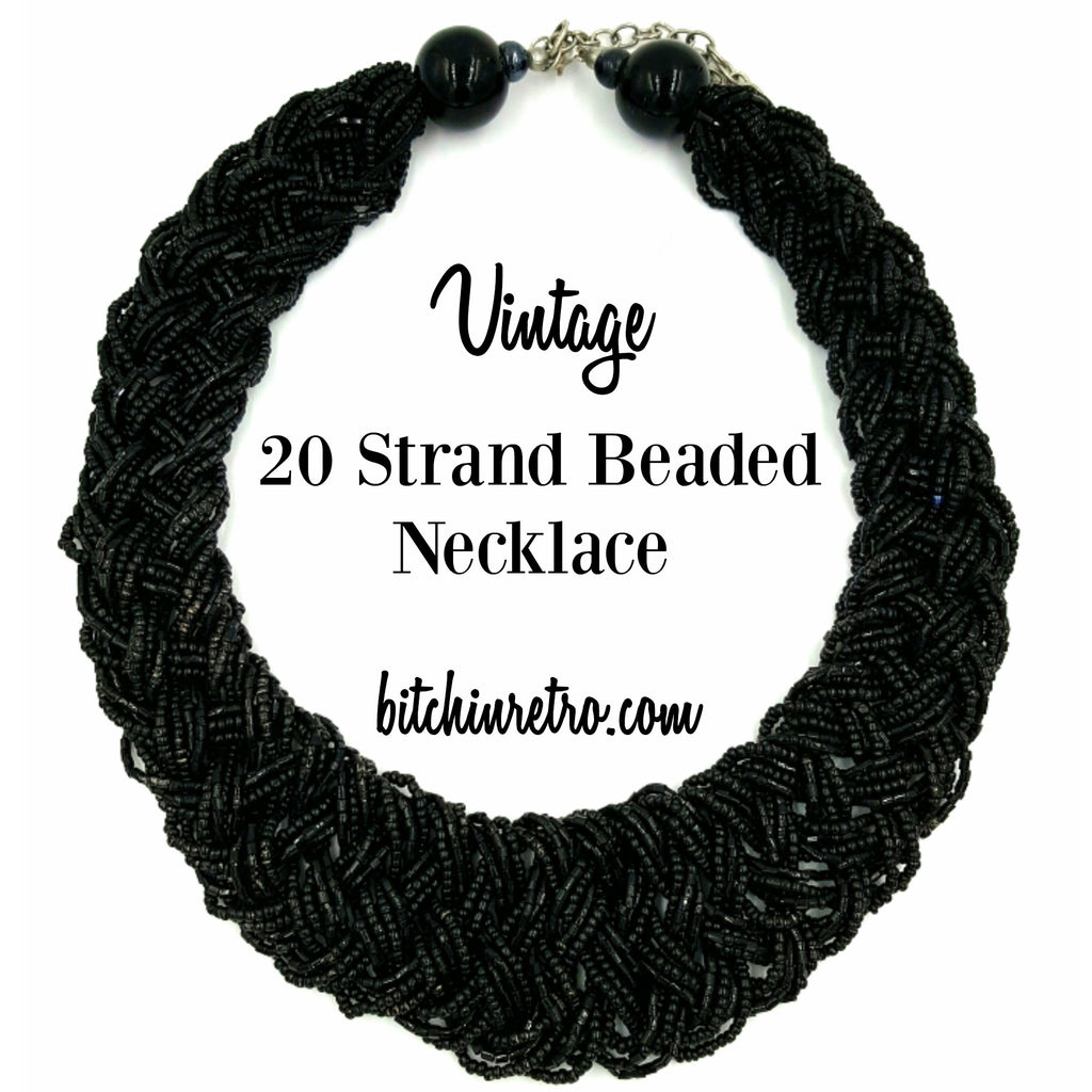Beaded Vintage Necklace at bitchinretro.com