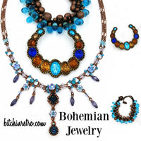 Cookie Lee Bohemian Necklace Lot @ bitchinretro.com