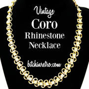 Coro Vintage Rhinestone Necklace at bitchinretro.com