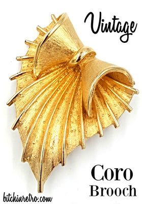Coro Vintage Brooch at bitchinretro.com