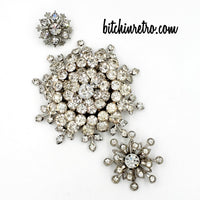 Vintage Rhinestone Brooch Set at bitchinretro.com