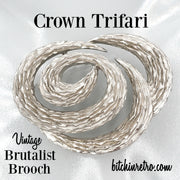 Crown Trifari Vintage Brutalist Brooch at bitchinretro.com