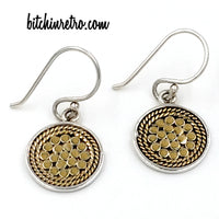 Anna Beck Sterling Silver Disc Earrings at bitchinretro.com