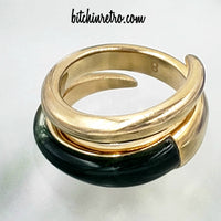 Michael Kors Autumn Luxe Bypass Ring at bitchinretro.com