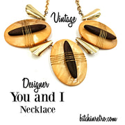 Designer You and I Vintage Statement Necklace at bitchinretro.com