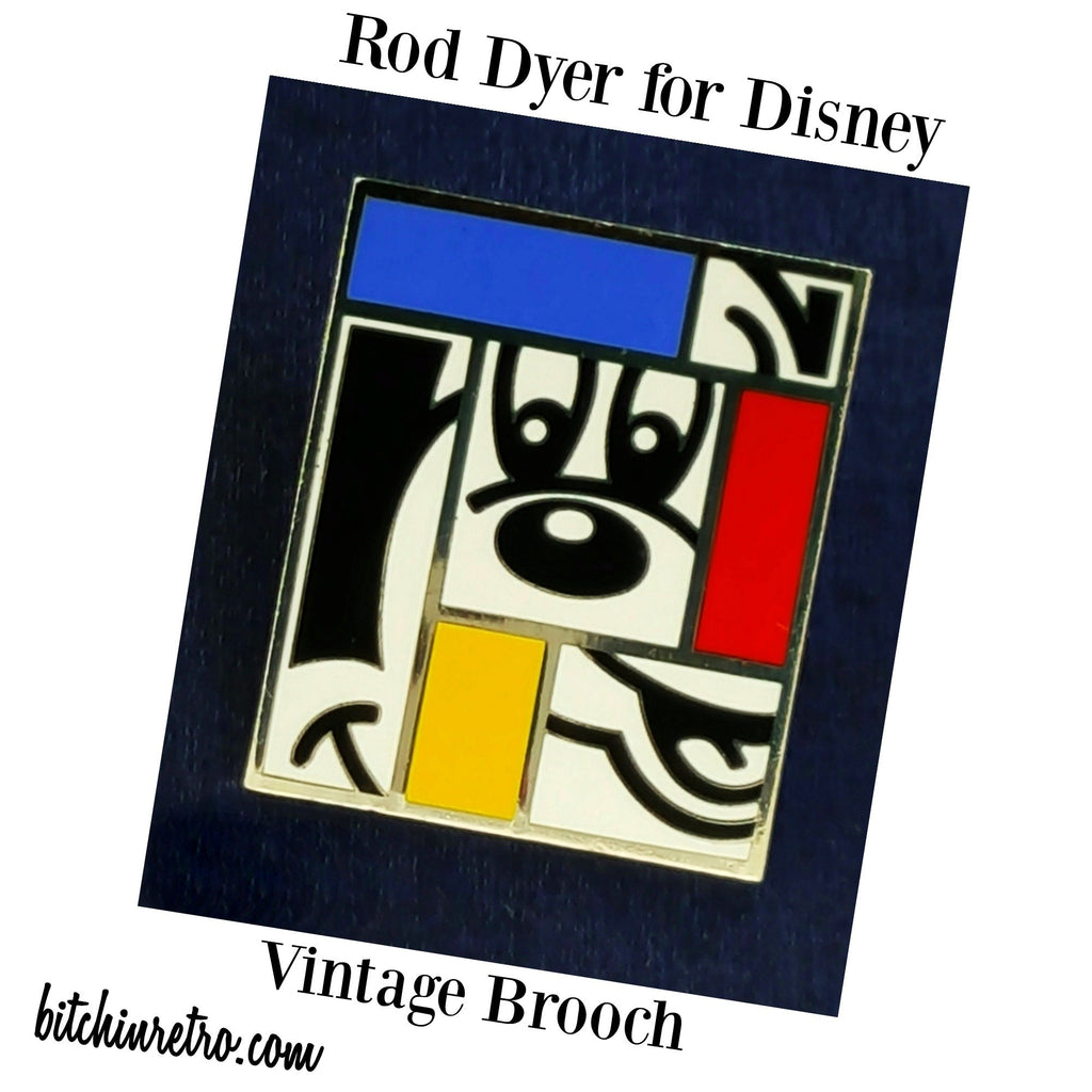 Disney Mickey Mouse Vintage Brooch by Rod Dyer at bitchinretro.com