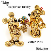 Napier for Disney Mickey and Minnie Mouse Vintage Scatter Pin Set