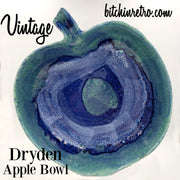 Dryden Pottery Vintage Apple Bowl at bitchinretro.com
