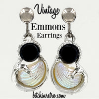 Emmons Vintage Earrings With Faux Shell at bitchinretro.com