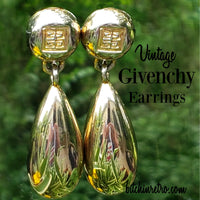Givenchy Vintage 4G Logo Earrings at bitchinretro.com