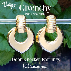 Givenchy Vintage Door Knocker Earrings at bitchinretro.com