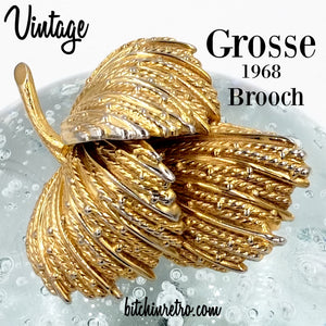 Vintage 1968 Grosse Brooch at bitchinretro.com