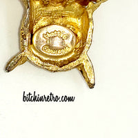 Hattie Carnegie Vintage Owl Brooch at bitchinretro.com