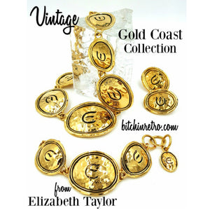 Elizabeth Taylor for Avon Gold Coast Collection Jewelry Set at bitchinretro.com