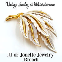 JJ or Jonette Jewelry Vintage Brooch at bitchinretro.com