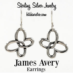 James Avery Sterling Silver Heart Earrings at bitchinretro.com