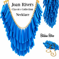 Joan Rivers Necklace Classics Collection Dramatic Faux Turquoise Beaded Drop