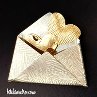 KD-TR Sterling Silver Love Letter Brooch at bitchinretro.com
