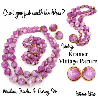 Kramer Vintage Jewelry Parure at bitchinretro.com
