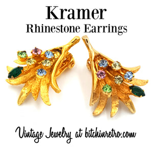 Kramer Vintage Earrings at bitchinretro.com
