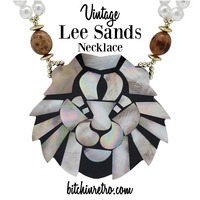 Lee Sands Vintage Lion Necklace at bitchinretro.com
