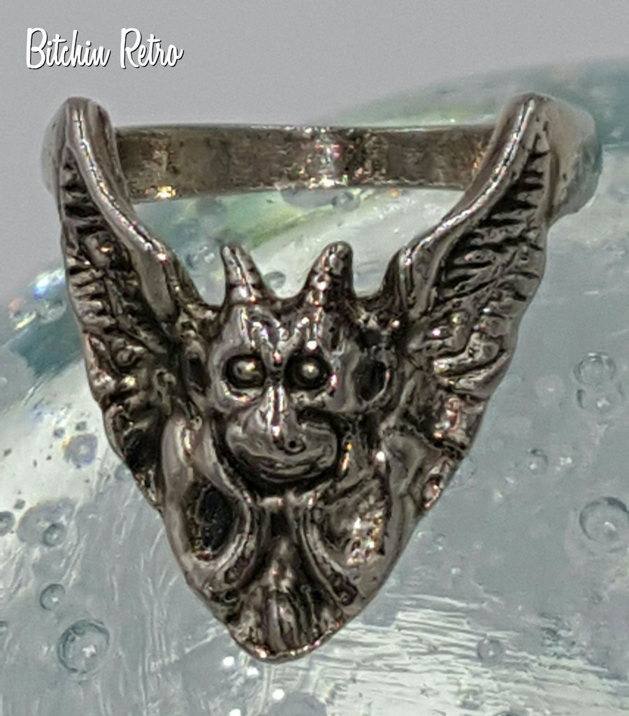 gothic mischievous gargoyle ring halloween costume ring for witches warlocks