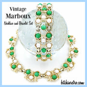 Marboux Vintage Necklace and Bracelet Set at bitchinretro.com