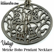 Metzke Boho Vintage Pendant Necklace at bitchinretro.com