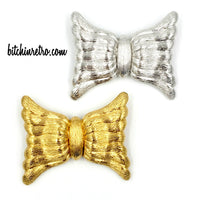 Monet Modern Bow Brooch Set at bitchinretro.com