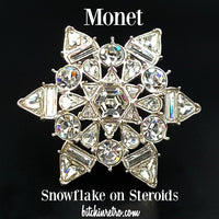 Monet Brooch - Snowflake on Steroids at bitchinretro.com