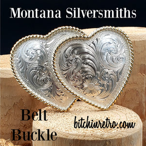Montana Silversmiths Double Heart Belt Buckle at bitchinretro.com