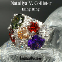 Nataliya V. Hollister Bling Rhinestone Ring at bitchinretro.com