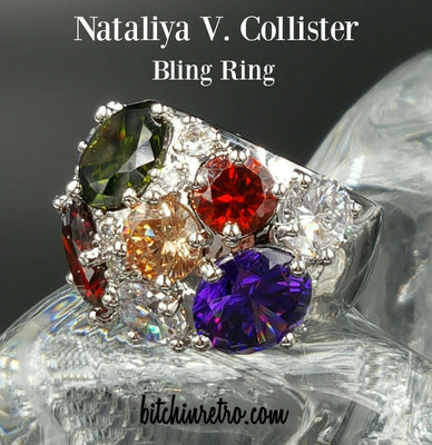 NVC Cubic Zirconia Cocktail Ring in a Rainbow of Colors