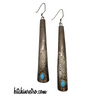 Vintage Native American Sterling Silver & Turquoise Earrings at bitchinretro.com