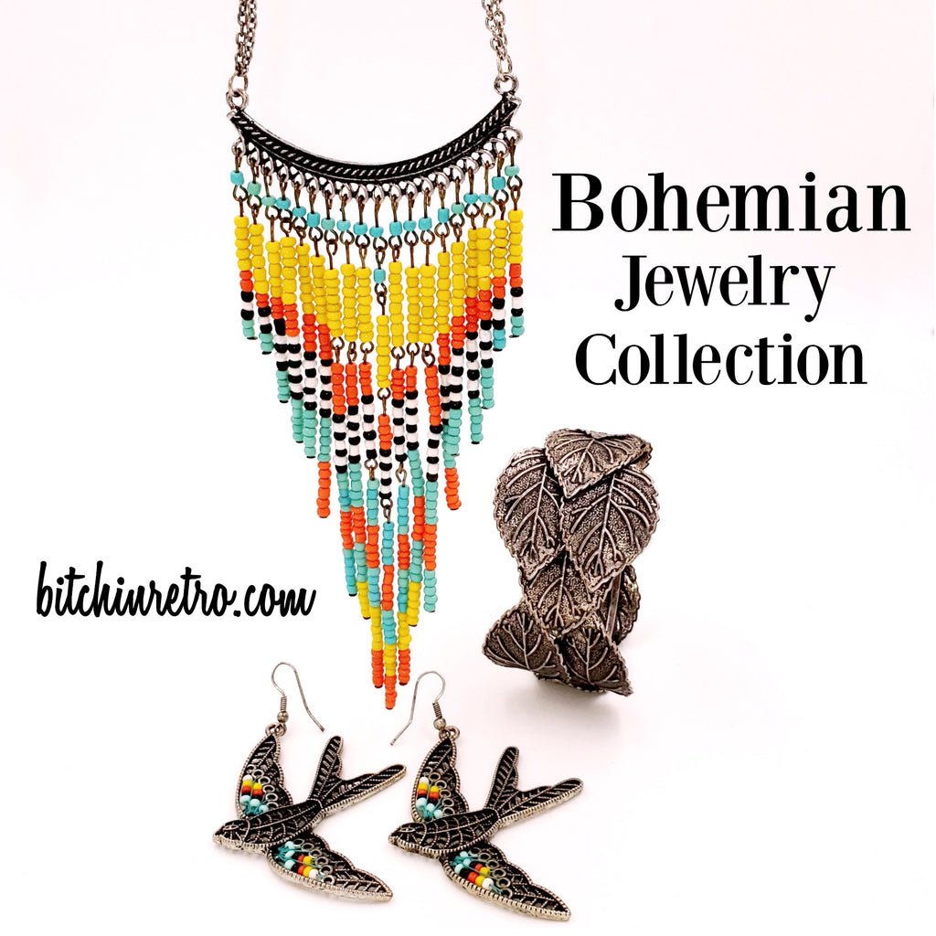 Bohemian Beaded Jewelry Collection at bitchinretro.com