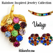 Rainbow Jewelry Collection at bitchinretro.com