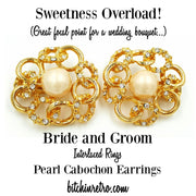 Bride and Groom Rhinestone Earrings at bitchinretro.com