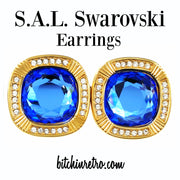 S.A.L. Swarovski Vintage Earrings at bitchinretro.com