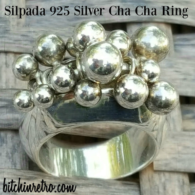 Silpada 925 Silver Cha Cha Ring at bitchinretro.com
