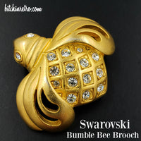 Swarovski Crystal Vintage Bumble Bee Brooch