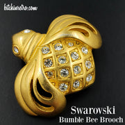 Swarovski Bumble Bee Vintage Brooch at bitchinretro.com