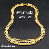 Swarovski Crystal Necklace at bitchinretro.com