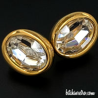 SAL Swarovski Vintage Crystal Earrings